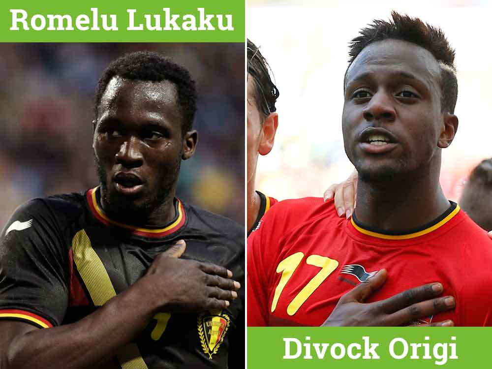 Belgium players Lukaku and Origi